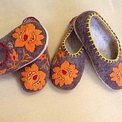 """Обувь ручной работы. Ярмарка Мастеров - ручная работа Тапочки """"Русские"""". Handmade."""