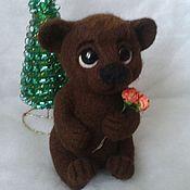 Куклы и игрушки ручной работы. Ярмарка Мастеров - ручная работа валяная игрушка медвежонок. Handmade.