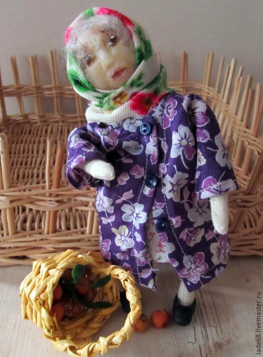 Коллекционные куклы ручной работы. Ярмарка Мастеров - ручная работа. Купить Приехали внуки- уехали внуки( бабушка, текстильная кукла). Handmade.