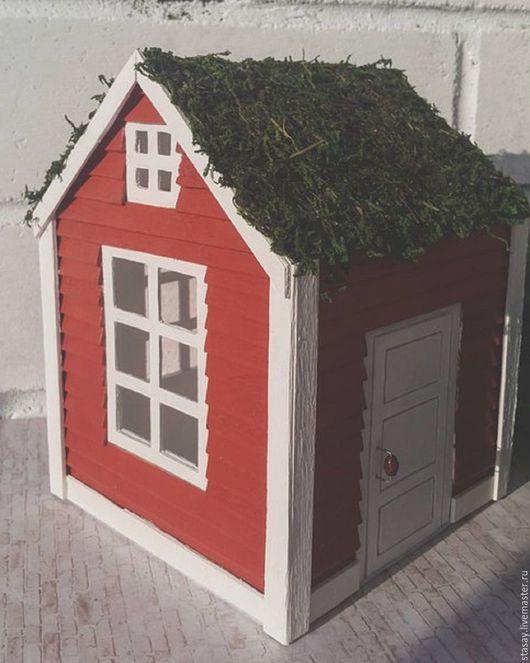 """Освещение ручной работы. Ярмарка Мастеров - ручная работа. Купить Ночник """"Норвежский домик"""". Handmade. Ночник, без заготовок, картон"""