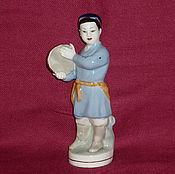 Винтаж handmade. Livemaster - original item UZBEK BOY WITH TAMBOURINE. DZ DULEVO 1950. Handmade.