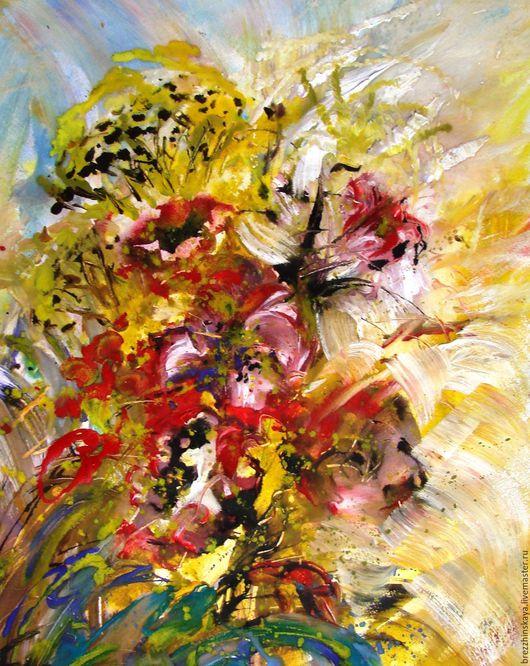 Абстракция ручной работы. Ярмарка Мастеров - ручная работа. Купить Букет осени. Абстрактные цветы.. Handmade. Комбинированный, абстракция