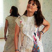 """Одежда ручной работы. Ярмарка Мастеров - ручная работа Валяное платье """"  Павлиний хвост""""  ( нуно) продано. Handmade."""