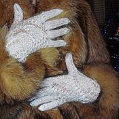 """Аксессуары ручной работы. Ярмарка Мастеров - ручная работа Ажурные перчатки """"Пуховый гламур"""". Handmade."""