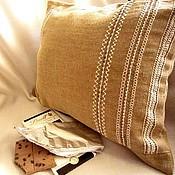 Для дома и интерьера ручной работы. Ярмарка Мастеров - ручная работа Чехол/Наволочка на диванную подушку. Мережка. Handmade.