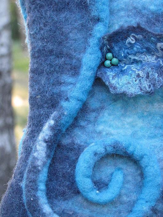 """Женские сумки ручной работы. Ярмарка Мастеров - ручная работа. Купить Сумка """"Лианы"""" войлок. Handmade. Сумка войлочная, голубая"""