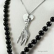 Украшения handmade. Livemaster - original item Silver pendant in LOVE with the GIRAFFE. Handmade.