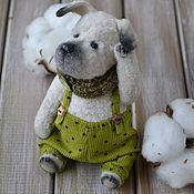 Куклы и игрушки ручной работы. Ярмарка Мастеров - ручная работа Тедди собачка Кефирчик. Handmade.