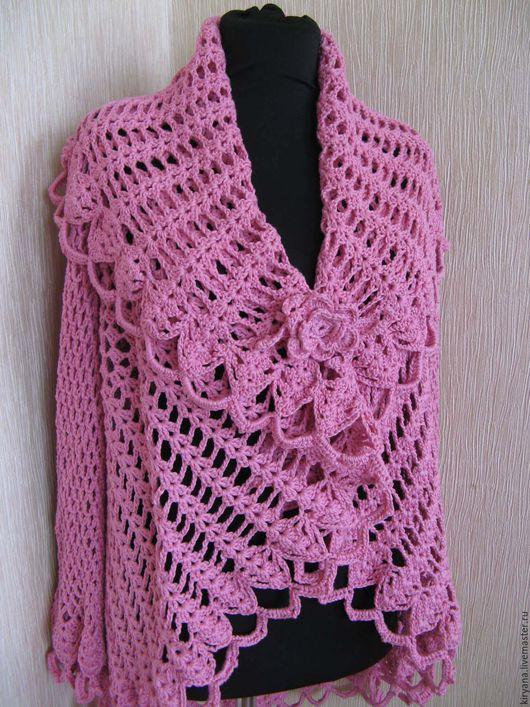 Пиджаки, жакеты ручной работы. Ярмарка Мастеров - ручная работа. Купить Жакет-накидка Жар-птица, розовая. Handmade. Розовый