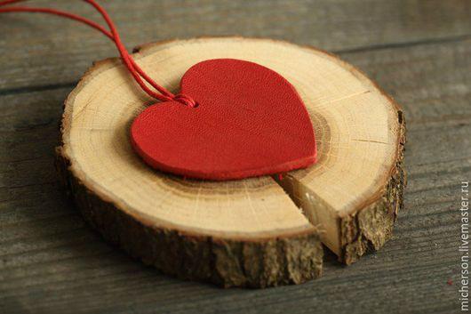 Кулоны, подвески ручной работы. Ярмарка Мастеров - ручная работа. Купить Кулон Сердце. Handmade. Ярко-красный, подвеска