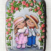 Пряничная открытка Среди цветов  Кулинарный сувенир