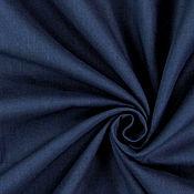 Материалы для творчества ручной работы. Ярмарка Мастеров - ручная работа Немецкий хлопок-cretonne темно-синий. Handmade.