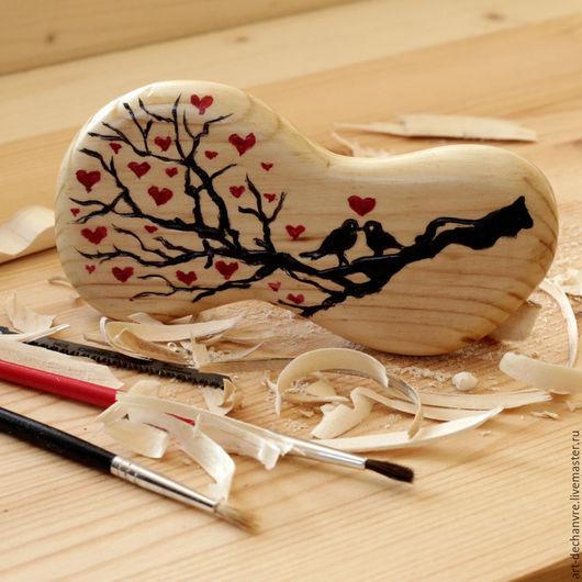 """Заколки ручной работы. Ярмарка Мастеров - ручная работа. Купить Заколка """"Птички"""". Handmade. Деревянный, резной, подарок, подарок девушке"""