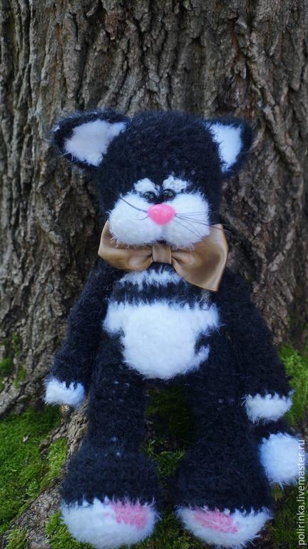 Игрушки животные, ручной работы. Ярмарка Мастеров - ручная работа. Купить Черный кот. Handmade. Черный, кошка, вязаный кот