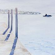Картины и панно ручной работы. Ярмарка Мастеров - ручная работа Призрачная пристань. Handmade.