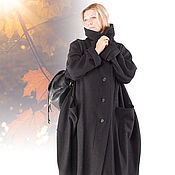 Теплое пальто из лодена art.138d