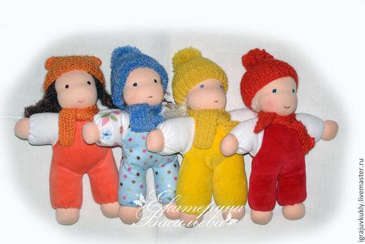 Вальдорфская игрушка ручной работы. Ярмарка Мастеров - ручная работа. Купить Вальдорфские куклы Кнопочки. Handmade. Кукла, игровая кукла