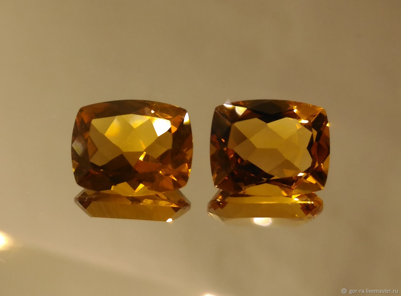 Natural citrine, pair 10h8 mm, Minerals, Yoshkar-Ola,  Фото №1