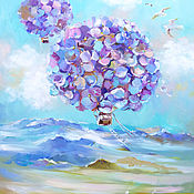 Картины и панно handmade. Livemaster - original item Lilac wind - oil painting on canvas. Handmade.