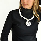 "Украшения handmade. Livemaster - original item Porcelain necklace ""TenetA"", paper porcelain, silver. Handmade."