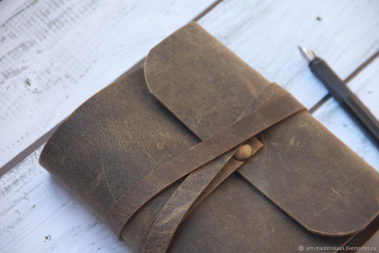 Кожаный блокнот ручной работы, Блокноты, Санкт-Петербург,  Фото №1