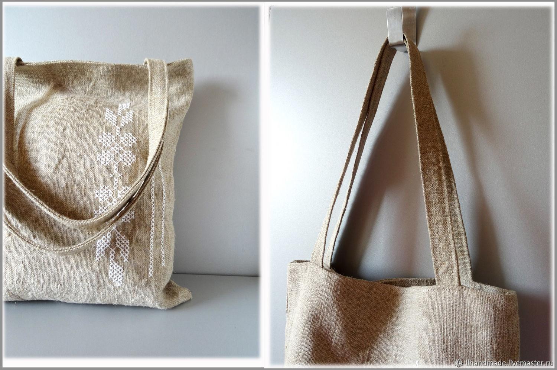 f106a5df9778 ... Сумки и аксессуары ручной работы. Эко-сумка из мешковины 'Тёплое лето' -