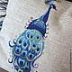 """Текстиль, ковры ручной работы. Ярмарка Мастеров - ручная работа. Купить Подушка из серии """"Павлин"""". Handmade. Синий, краски, в детскую"""