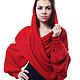"""Большие размеры ручной работы. Шарф-свитер безразмерный вязаный """"Красный"""" в любом цвете, любой размер. Одежда для женщин шикарных размеров (seanna12). Ярмарка Мастеров."""