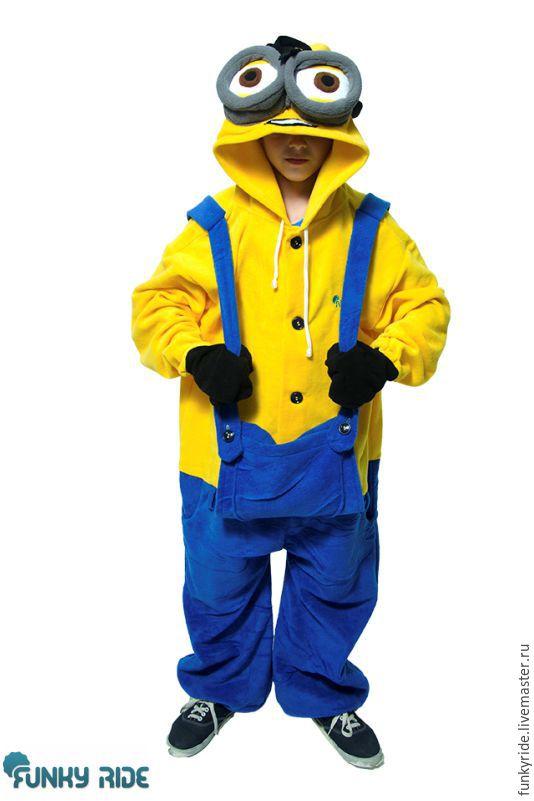Minion Dave Kigurumi - Custom Handmade - Anti-pill Fleece Pyjamas, Suits, Magnitogorsk,  Фото №1