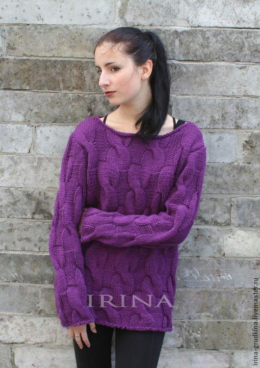 свитер темная орхидея купить в интернет магазине на ярмарке