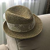 Аксессуары handmade. Livemaster - original item Tribley`s raffia hat. Handmade.