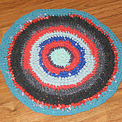 Вяжем крючком коврик тряпок мастер класс