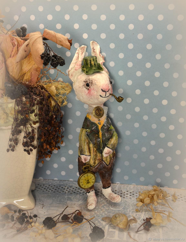 Игрушка Заяц Альберт (ватное папье-маше), Мягкие игрушки, Калининград,  Фото №1