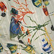 Ткани ручной работы. Ярмарка Мастеров - ручная работа Хлопок -стретч Мальдивы Pierre Frey мультиколор Франция. Handmade.