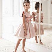 """Работы для детей, ручной работы. Ярмарка Мастеров - ручная работа Нарядное платье """"Крылышки"""" (Розовое). Handmade."""