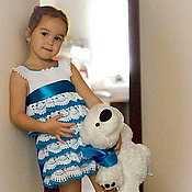 Работы для детей, ручной работы. Ярмарка Мастеров - ручная работа Мастер-класс нарядное платье с воланами. Handmade.