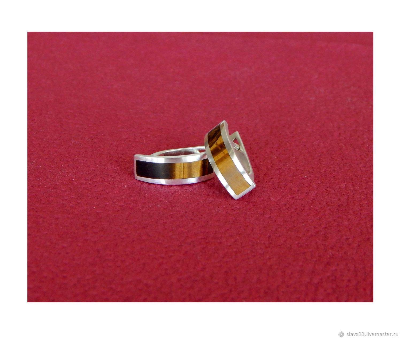 Earrings with tiger eye, Earrings, Vladimir,  Фото №1