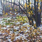 Картины ручной работы. Ярмарка Мастеров - ручная работа Первый снег. Handmade.