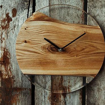"""Для дома и интерьера ручной работы. Ярмарка Мастеров - ручная работа Часы с прозрачной смолой """"Black arrows"""". Handmade."""