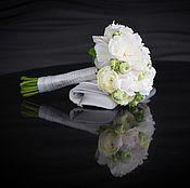 Цветы и флористика ручной работы. Ярмарка Мастеров - ручная работа Свадебный букет Ароматный пион. Handmade.