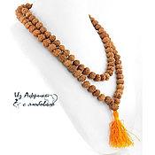 Фен-шуй и эзотерика handmade. Livemaster - original item Rosary temple Rudraksha five-faced. Handmade.