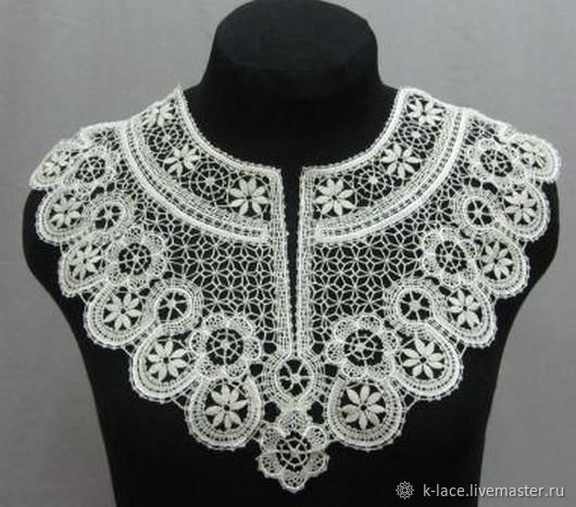 Lace insert white shirt front, Applications, St. Petersburg,  Фото №1