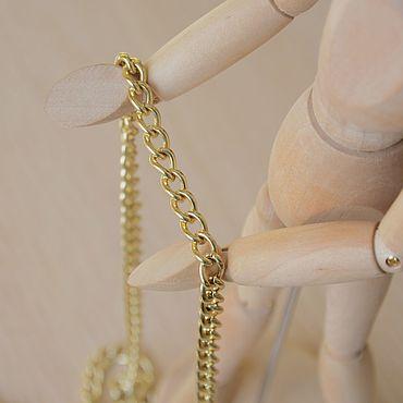 Материалы для творчества ручной работы. Ярмарка Мастеров - ручная работа Цепочка металлическая Y 80 светлое золото. Handmade.
