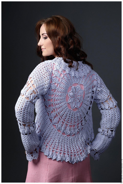 Болеро для вечернего платья вязаное