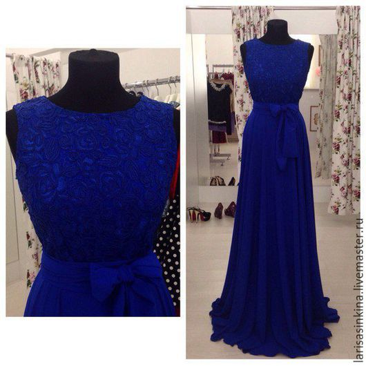 Платья ручной работы. Ярмарка Мастеров - ручная работа. Купить Платье на заказ. Handmade. Тёмно-синий, индивидуальный пошив