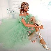 Куклы и игрушки handmade. Livemaster - original item interior doll: Ballerina Mint Tenderness. Handmade.