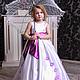 Одежда для девочек, ручной работы. Ярмарка Мастеров - ручная работа. Купить Платье выпускное. Handmade. Белый, атлас