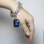 Украшения handmade. Livemaster - original item Bracelet with London blue Topaz. 925 sterling silver st.. Handmade.