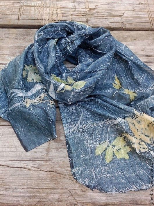 Шарфы и шарфики ручной работы. Ярмарка Мастеров - ручная работа. Купить Шелковый шарф Дождик, микс принт. Handmade.