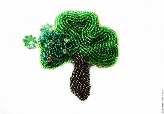 """Броши ручной работы. Ярмарка Мастеров - ручная работа. Купить Брошь """"Ирландские мотивы"""". Handmade. Тёмно-зелёный, брошь купить"""